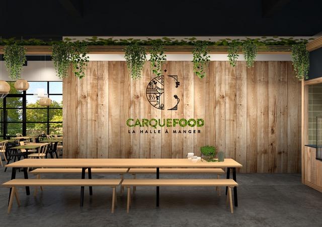 Carquefood-3.Visuel logo mur sans lampes